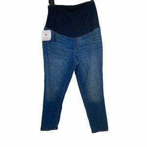 NWT isabel maternity skinny cross back crop jeans